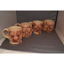 Set of 4 face coffee mug